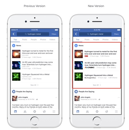 facebook articles with publisher logo