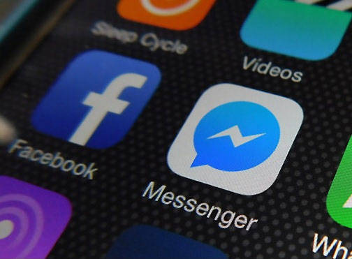 Image showing widgets of Facebook and Messenger