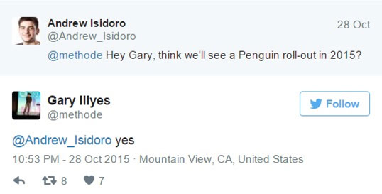 Gary Illyes tweets confirmation of new Penguin update later this year.