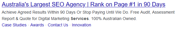 search result for seo agency