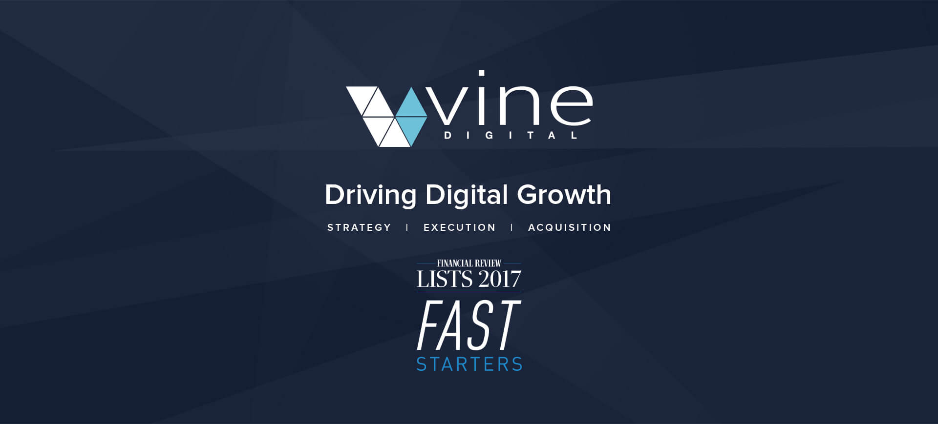 vinedigital afr fast starters list 2017