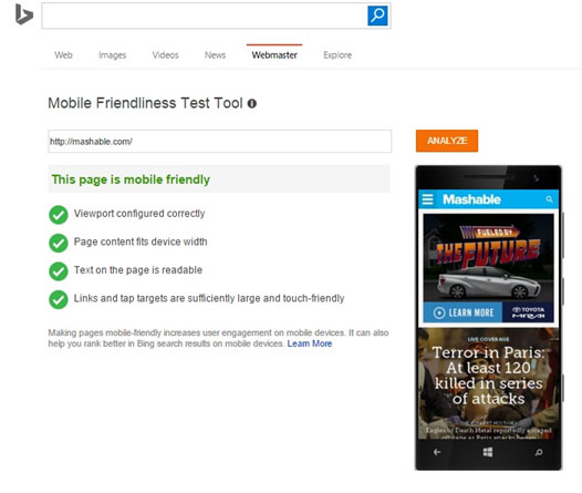 bing-mobile-friendliness-test-tool